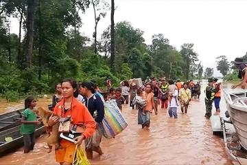 Vỡ đập ở Lào khiến nước về đồng bằng sông Cửu Long lên vào cuối tuần