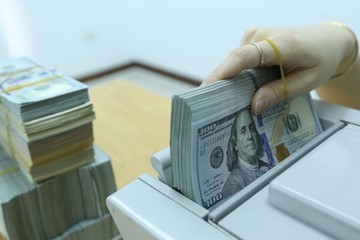 Tỷ giá trung tâm giữa VND với USD bắt đầu nổi bật