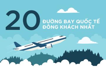 [Infographic] 20 đường bay quốc tế đông khách nhất