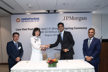 LienVietPostBank nhận khoản vay 50 triệu USD từ JPMorgan Chase