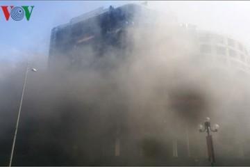 Hỏa hoạn tại công trình đang thi công của Tập đoàn Tôn Hoa Sen