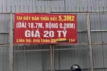 Rao bán hơn 5 m2 đất ở Hà Nội giá 20 tỷ đồng