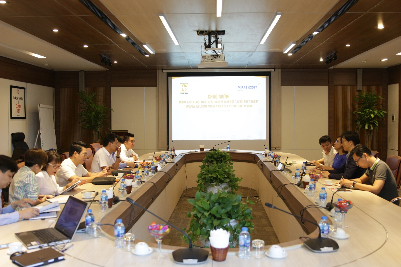 Tập đoàn Tài chính Mirea Asset gặp gỡ và tìm hiểu thông tin về Hải Phát Invest