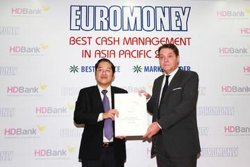 HDBank nhận giải ngân hàng có dịch vụ quản lý tiền mặt tốt nhất năm 2018