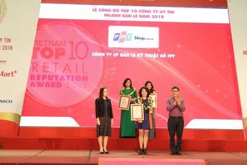 FPT Retail được vinh danh Top 10 Nhà bán lẻ uy tín năm 2018
