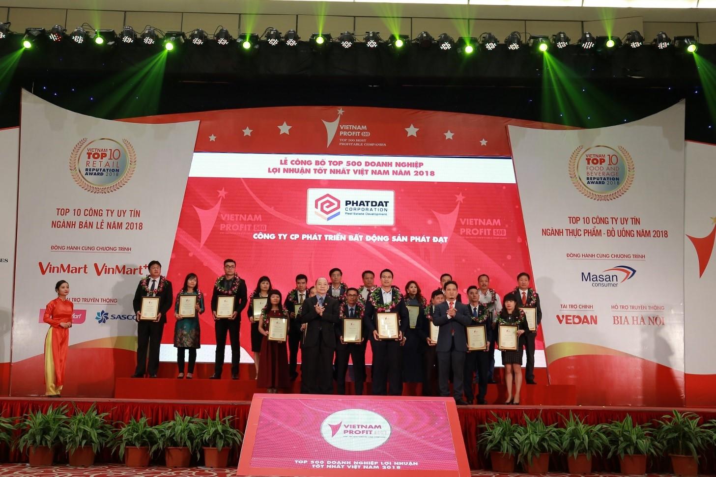 Phát Đạt nằm trong Top 500 doanh nghiệp lợi nhuận tốt nhất Việt Nam 2018