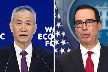 Phó thủ tướng Trung Quốc, Bộ trưởng Tài chính Mỹ điện đàm về thương mại