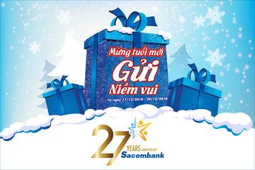 Sacombank nâng lãi suất 2 tháng lên kịch trần nhân dịp sinh nhật