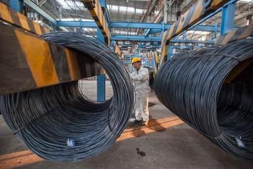 Giá thép Trung Quốc chạm đỉnh 5 tuần