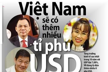 Việt Nam sẽ có thêm nhiều tỉ phú USD