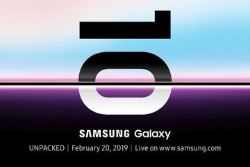 Samsung ra mắt Galaxy S10 vào 20/2