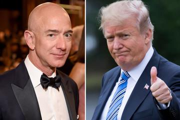 Trump chúc Bezos ly hôn may mắn