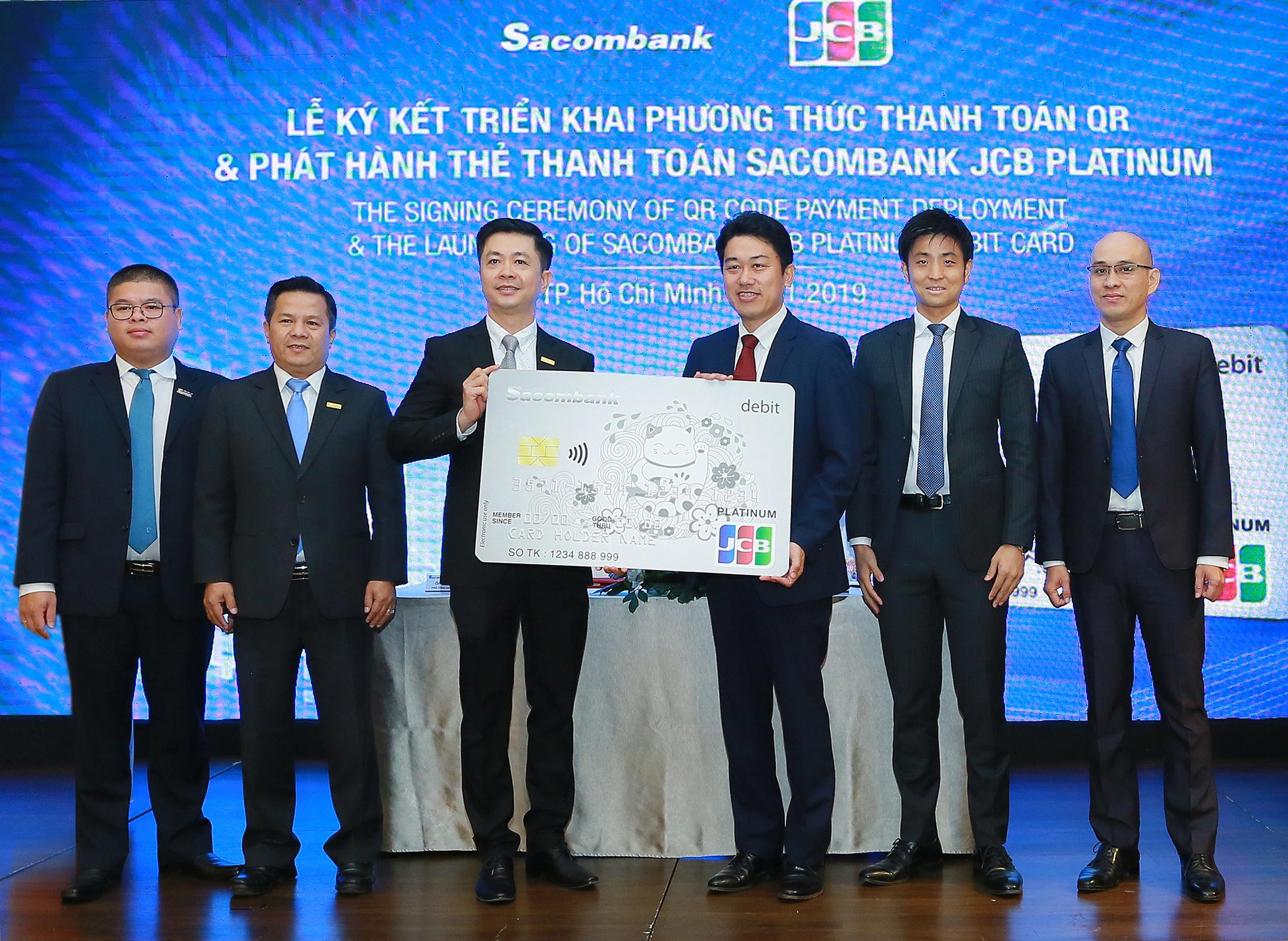 Sacombank hợp tác JCB (Nhật) triển khai thanh toán QR và phát hành thẻ