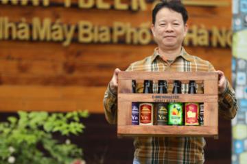 Bia thủ công giá tiền triệu biếu Tết