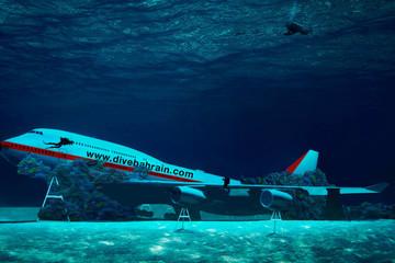 Thả Boeing xuống biển làm công viên nước