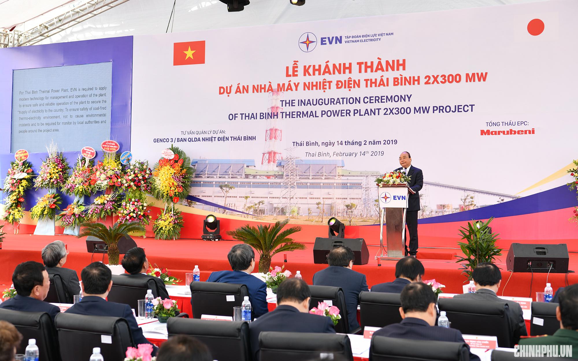 Thủ tướng cắt băng khánh thành nhà máy nhiệt điện 1,27 tỷ USD tại Thái Bình