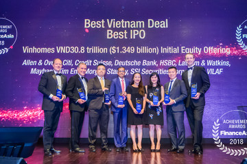 SSI nhận hai giải thưởng tại FinanceAsia Achievement Awards