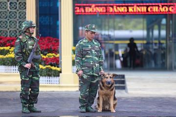 Chó nghiệp vụ, máy soi an ninh được đưa đến ga Đồng Đăng