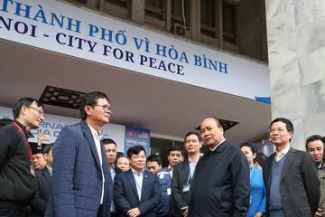 Lần thứ 3 Thủ tướng đến kiểm tra Trung tâm báo chí quốc tế hội nghị Mỹ - Triều