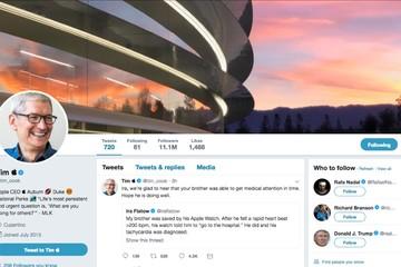 Tim Cook đổi tên thành 'Tim Apple' trên Twitter sau khi bị Trump gọi nhầm