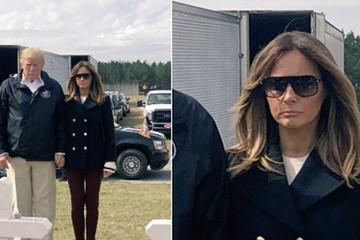 Melania lại bị đồn dùng người thế thân khi đi cùng Trump