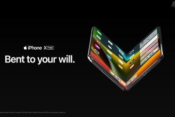 iPhone X màn hình gập trông như thế nào?