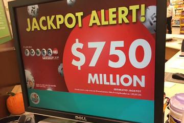Giải độc đắc Powerball tăng lên 750 triệu USD, lớn thứ tư lịch sử Mỹ