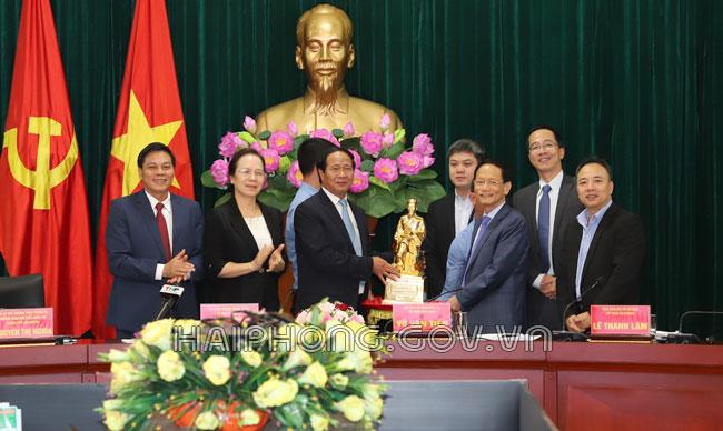 Tập đoàn của ông Vũ Văn Tiền nghiên cứu đầu tư 3 dự án ở Hải Phòng
