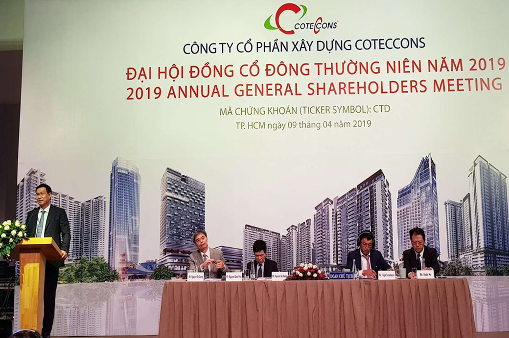 ĐHCĐ Coteccons: Ông Nguyễn Bá Dương đề nghị dừng sáp nhập Ricons
