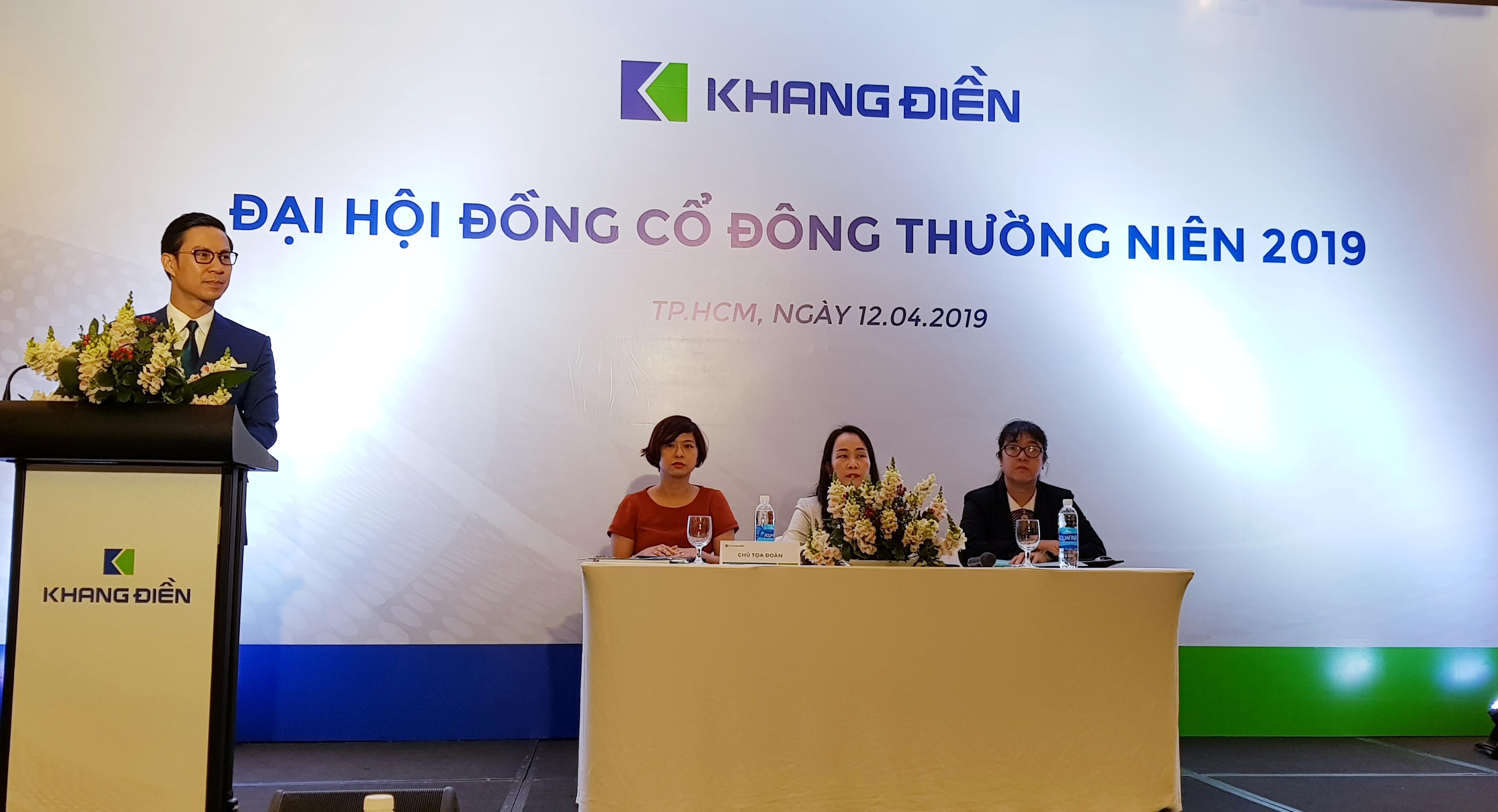 ĐHCĐ Khang Điền: Triển khai 2 dự án mới, kế hoạch lãi 900 tỷ đồng năm 2019