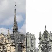[Ảnh] Nhà thờ Đức Bà Paris trước và sau vụ cháy