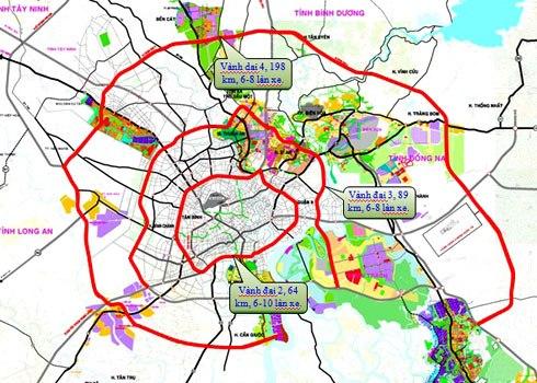 Đề xuất đầu tư 7.075 tỷ đồng xây tuyến vành đai 4 TP HCM đoạn Bến Lức - Hiệp Phước