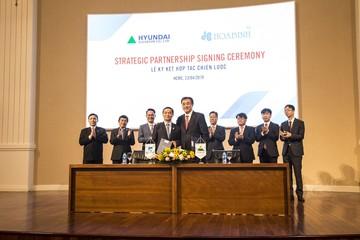 Hòa Bình ký thỏa thuận phát hành riêng lẻ và hợp tác chiến lược với Hyundai Elevator