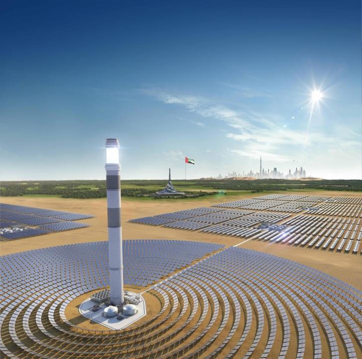 Công viên năng lượng mặt trời 13,6 tỷ USD của Dubai