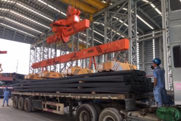 Cảng Hòa Phát Dung Quất xuất trên 3.000 tấn thép thành phẩm
