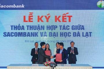 Sacombank ký kết thoả thuận hợp tác với đại học Đà Lạt