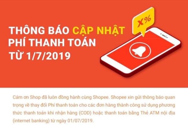 Shopee tăng phí thanh toán với người bán
