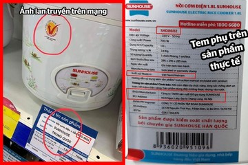 Sunhouse lên tiếng việc 'nồi cơm điện Trung Quốc đạt hàng Việt Nam chất lượng cao'