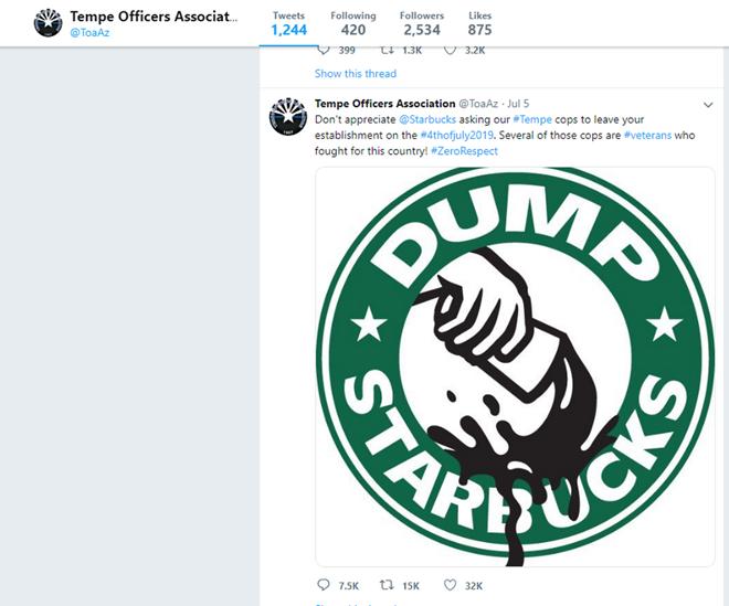 Trào lưu đòi tẩy chay Starbucks vì nhân viên đuổi cảnh sát khỏi cửa hàng ở Mỹ