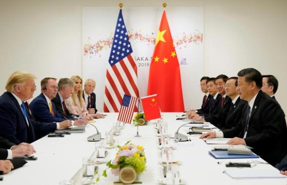 Tổng thống Mỹ Donald Trump và Chủ tịch Trung Quốc Tập Cận Bình gặp trực tiếp tại Nhật Bản hồi cuối tháng 6. Ảnh: Reuters.