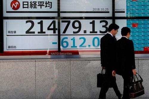 Chứng khoán châu Á trái chiều, chờ kết quả kinh doanh quý II