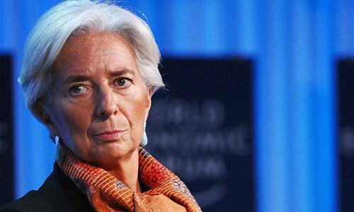 Tổng giám đốc IMF Christine Lagarde tại Diễn đàn Kinh tế Thế giới. Ảnh: AFP