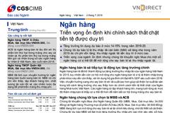 VNDS: Báo cáo ngành ngân hàng - Triển vọng ổn định khi chính sách thắt chặt tiền tệ được duy trì