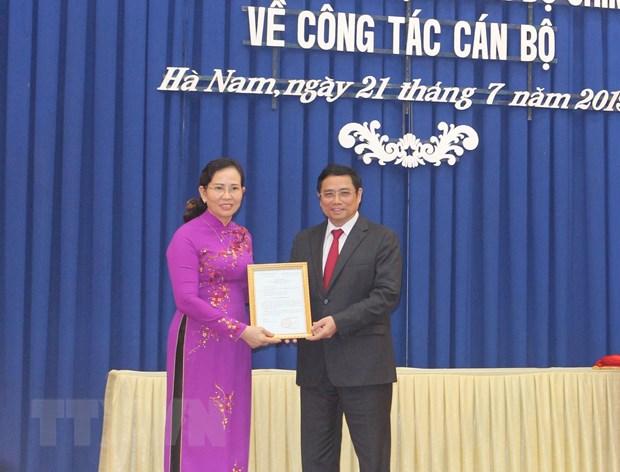 Phó Chủ nhiệm Ủy ban Kiểm tra Trung ương làm Bí thư Hà Nam