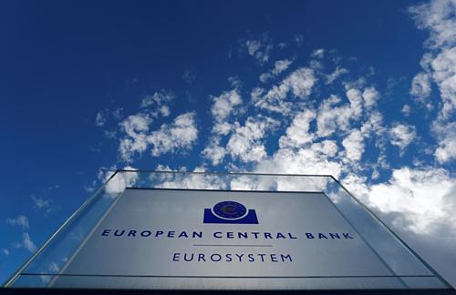 Bên ngoài trụ sở ECB ở Frankfurt (Đức). Ảnh: Reuters