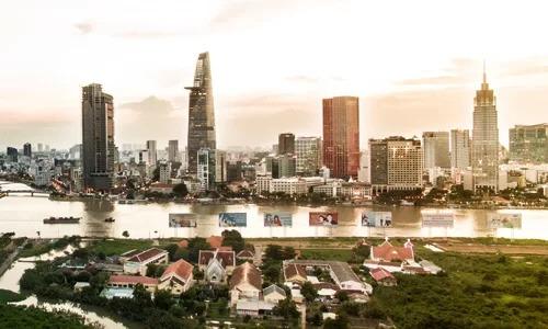 Khu trung tâm TP HCM, nơi tập trung nhiều trung tâm mua sắm hiện đại. Ảnh:Lucas Nguyễn