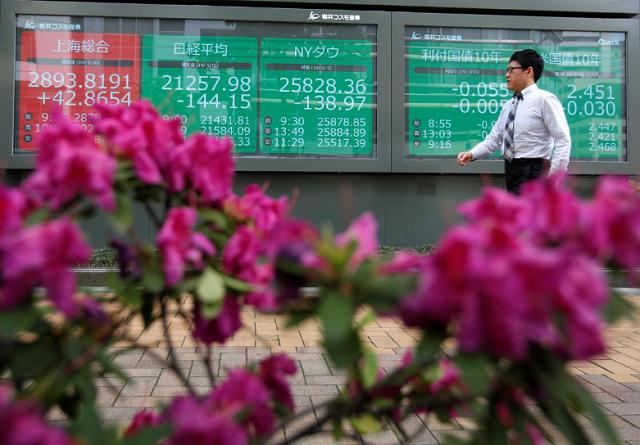 Chứng khoán châu Á giảm, thận trọng trước thềm họp Mỹ - Trung, Fed