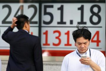 Chứng khoán châu Á giảm hơn 1%, lập đáy mới