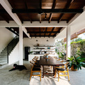 <p> Tầng 1 của ngôi nhà là không gian sinh hoạt chung, được thiết kế mở, rộng rãi và thoáng mát.</p>
