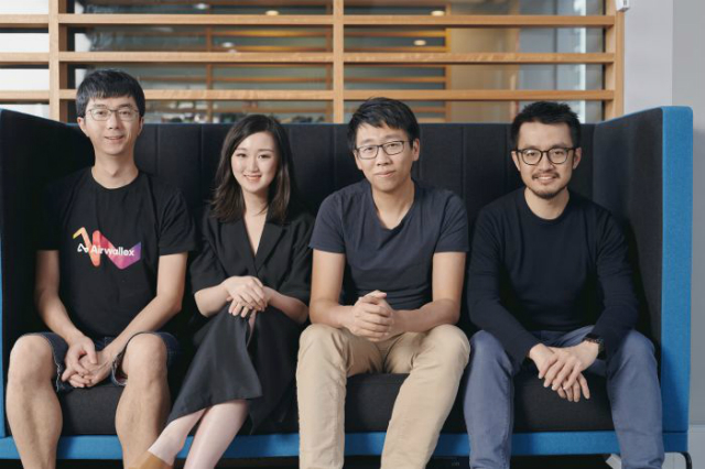 Airwallex's cofounders, from left to right, Xijing Dai, Lucy Liu, Jack Zhang and Max Li.Airwallex